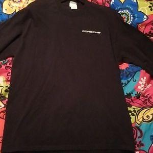 Hanes Porsche long sleeve shirt large